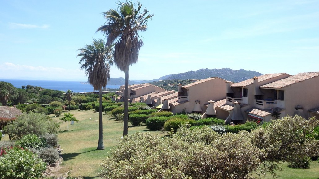 Vue jardin et sardaine résidence Bocca del'Oro
