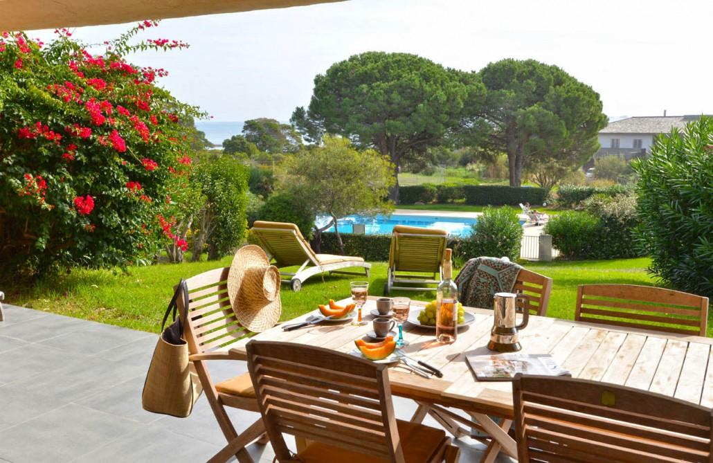 Villas piscine vue mer Palombaggia